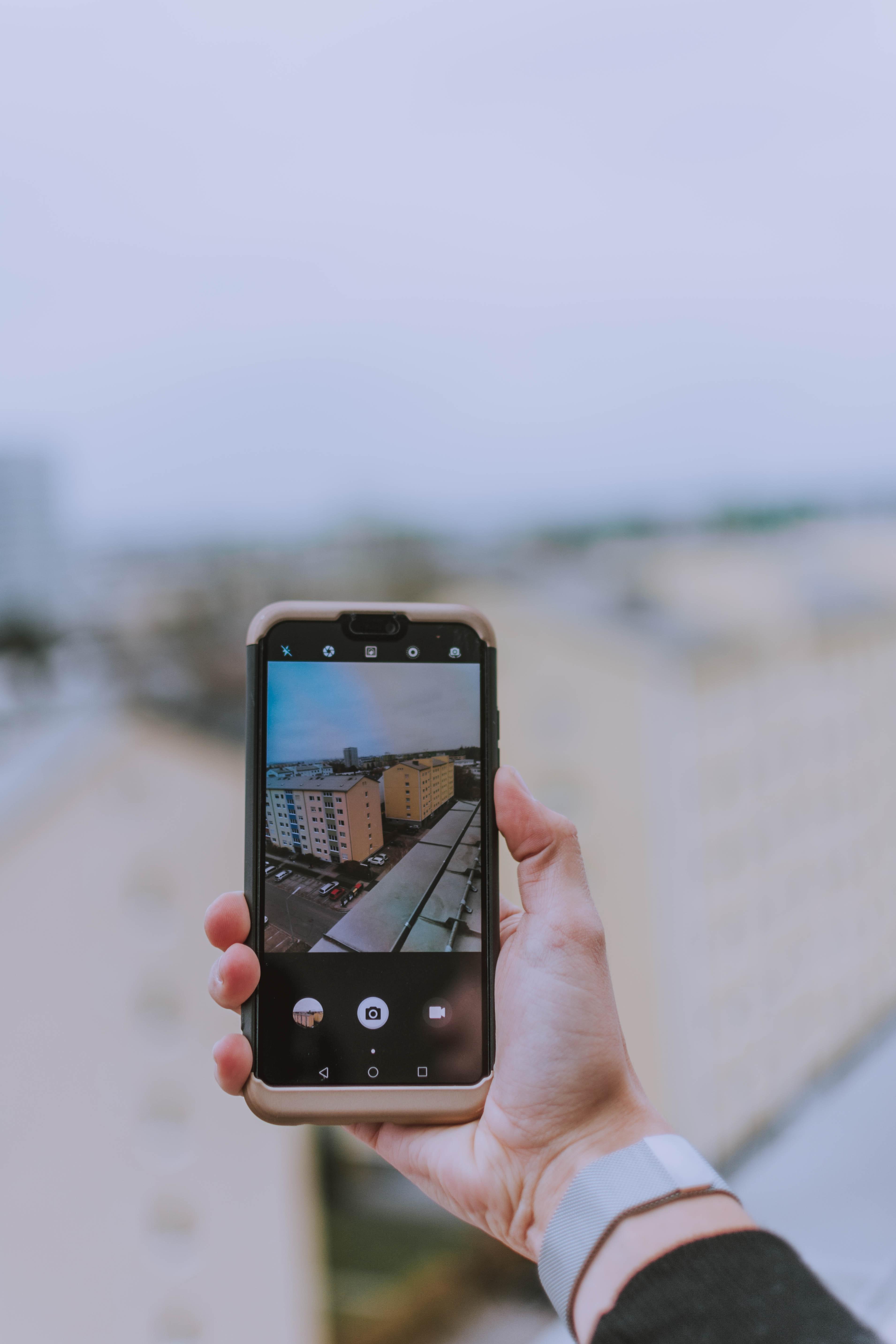 telefon, wideo, komórka