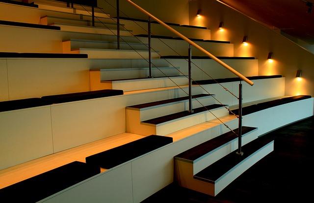schody oświetlenie led