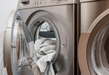 pralka bęben pranie